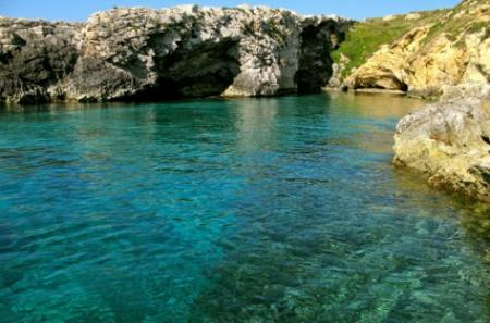 Crystal clear waters in gozo