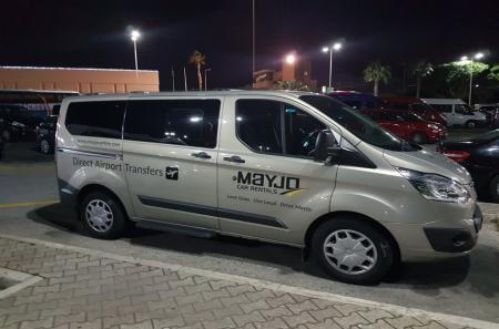 Minivan at Malta Airport