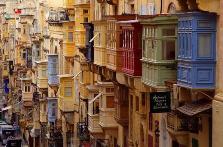 I balconi a Valletta