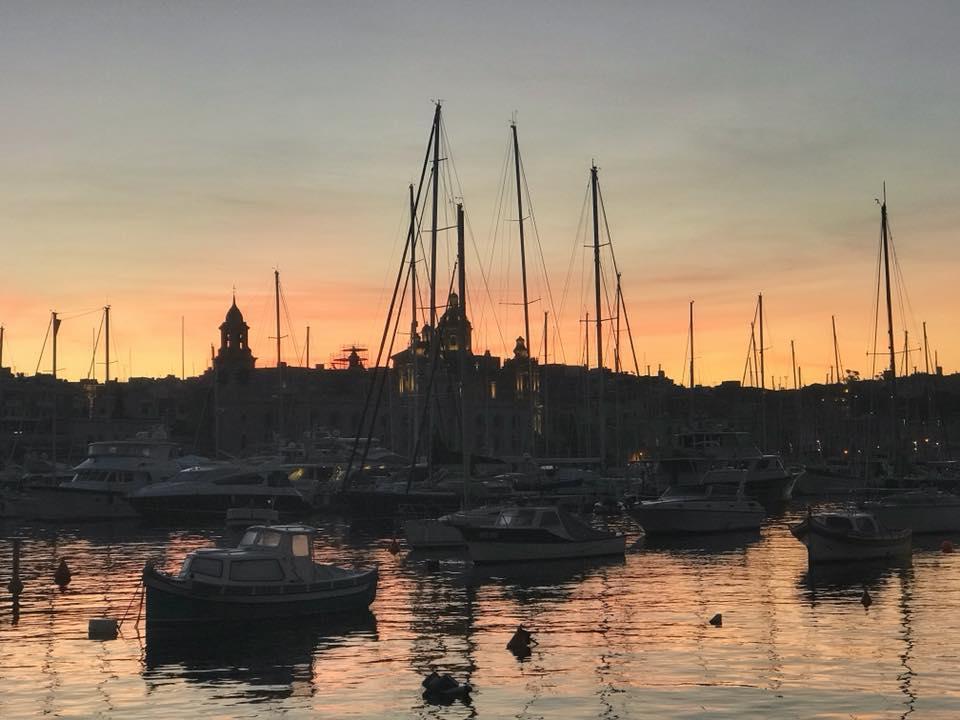Birgu Marina at sunrise
