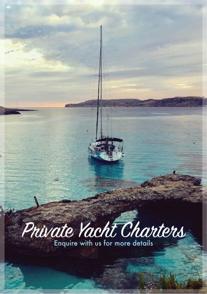 private yacht charters around Gozo and Comino